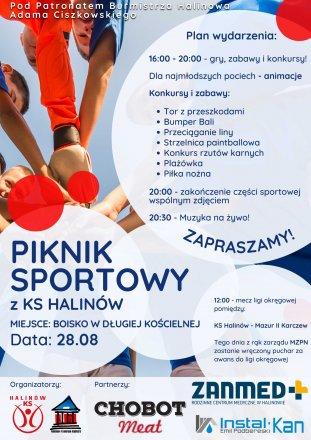 Piknik sportowy z KS Halinów 28 sierpnia