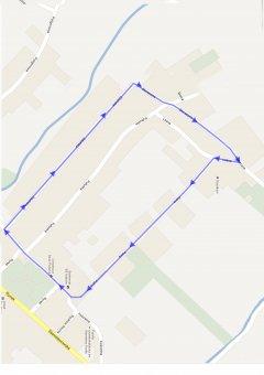 Mapka trasy III Biegu Rycerza Okunia 2013