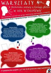 Warsztaty z techniki mowy i emisji głosu w GCK w Okuniewie