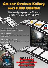 Projekcje filmowe w GCK Okuniew 21 maja Kino Orange