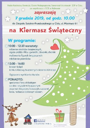 kiermasz-swiateczny-2019_zsp-cisie_plakat