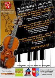 XI Halinowskie Dni Muzyki
