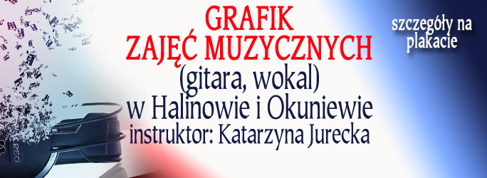 Grafik zajęć muzycznych – instruktor Katarzyna Jurecka