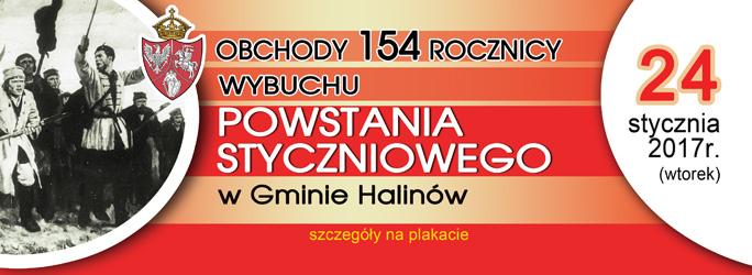 Obchody 154 rocznicy wybuchu Powstania Styczniowego w Gminie Halinów – 24 stycznia 2017 r.