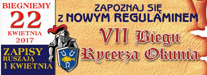 VII Bieg Rycerza Okunia – 22 kwietnia 2017