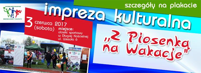 """""""Z Piosenką na Wakacje"""" – impreza kulturalna – 3 czerwca 2017"""