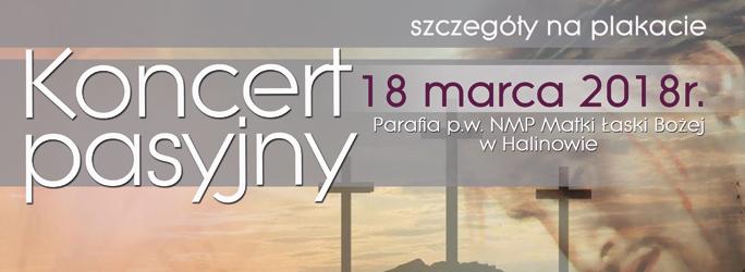 """Koncert Pasyjny na kanwie poezji pt. """"Ave Crux"""" – 18 marca 2018"""