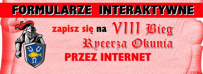 Formularz Interaktywny – VIII Bieg Rycerza Okunia – ZAPISZ SIĘ TERAZ !