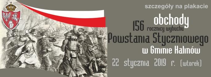 156 Obchody Rocznicy Wybuchu Powstania Styczniowego w Gminie Halinów – 22 stycznia 2019 r.