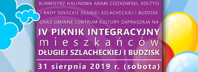 """""""IV Piknik integracyjny mieszkańców Długiej Szlacheckiej i Budzisk"""" – 31 sierpnia 2019 r. (sobota)"""
