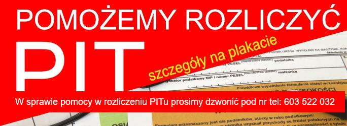 Pomożemy rozliczyć PIT – Od 3 marca do 30 kwietnia 2020 r.