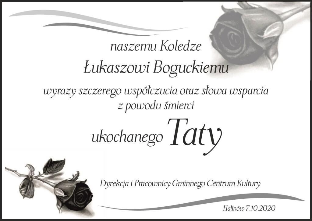 kondolencje Łukasz