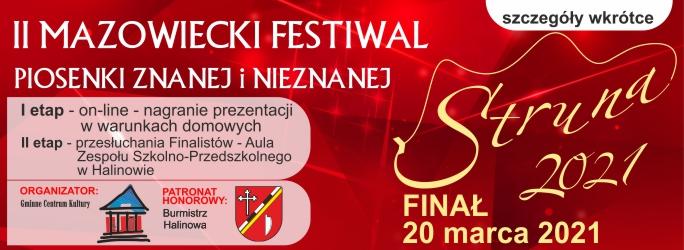II Mazowiecki Festiwal Piosenki Znanej i Nieznanej – szczegóły wkrótce