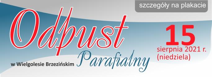 Odpust Parafialny w Wielgolesie Brzezińskim – 15 sierpnia 2021 r.